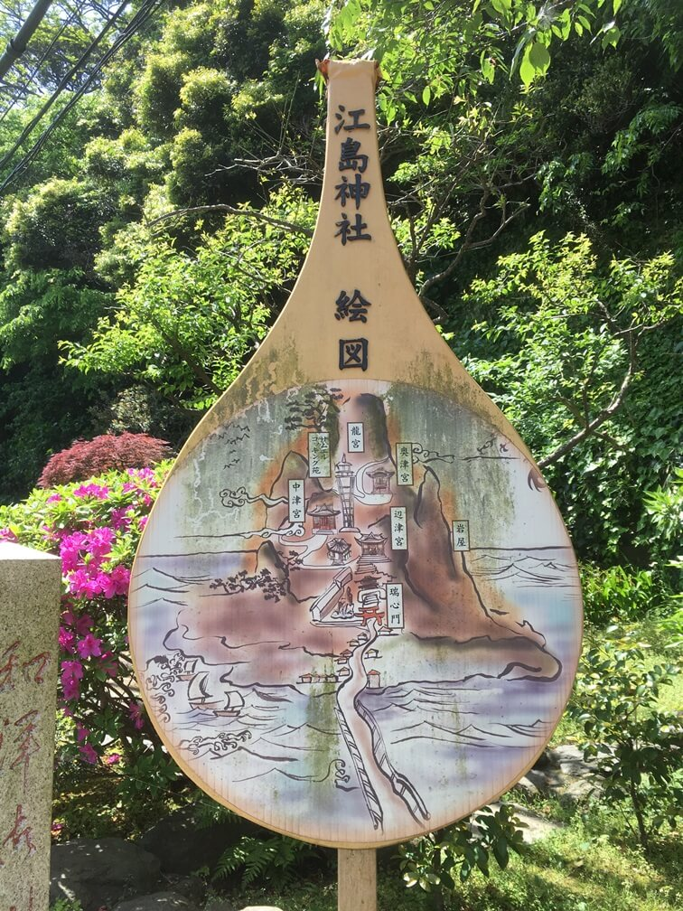江島神社の絵図