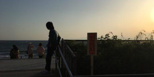 江ノ島海岸にて